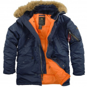 Куртка утеплённая Slim Fit N-3B Parka Rep.Blue/Orange