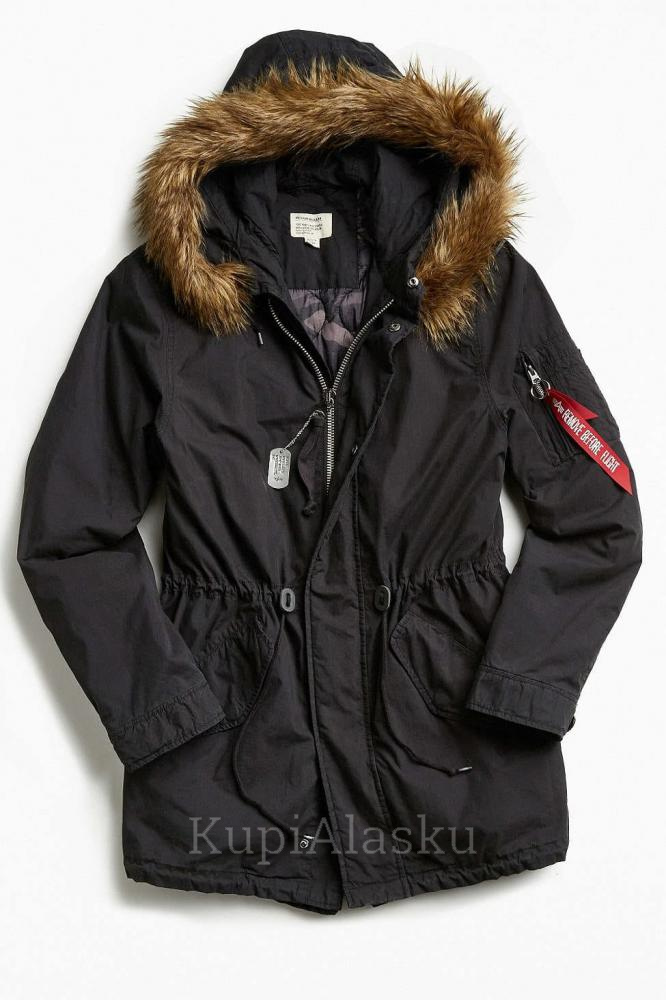 Аляска женская J-4 Fishtail W Parka Alpha, Black