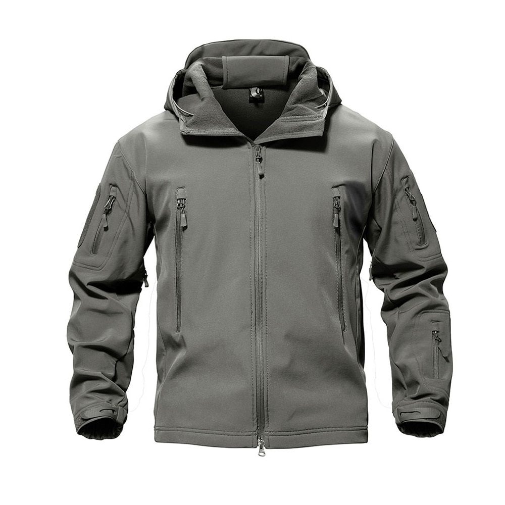 Куртка Shark Skin Soft Shell на флисе серая