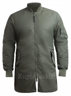Куртка B-17 Long light  S.GREEN/ ORANGE