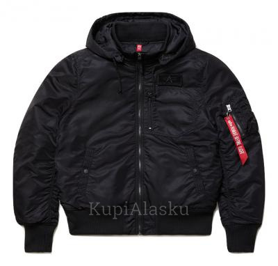 Куртка Alpha Industries MA-1 Hooded Rib Black