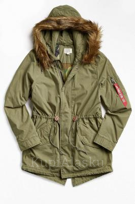 Аляска женская J-4 Fishtail W Parka Alpha, Olive