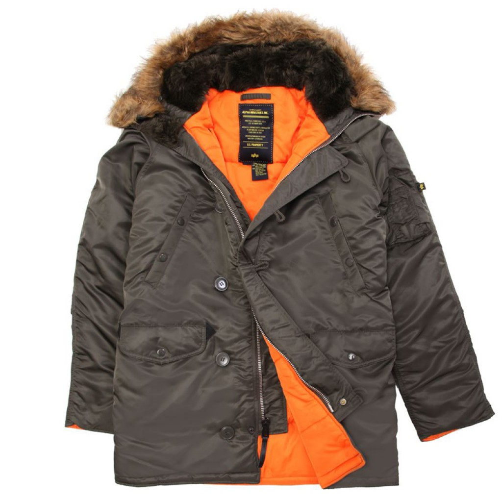 Аляска Slim Fit N-3B Parka Alpha